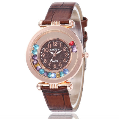 Women Watch Luxury Ladies Wrist Watches Leather Band Quartz