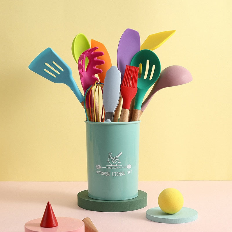Silicone Kitchen Cookware Utensils Tools  Kitchenware  Accessories Gadgets