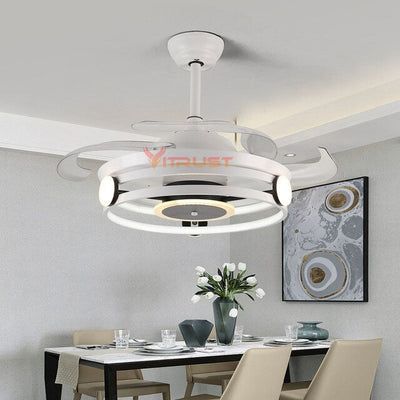 Nordic Ceiling Fan Lights 42in Invisible Ceiling Lights Fan