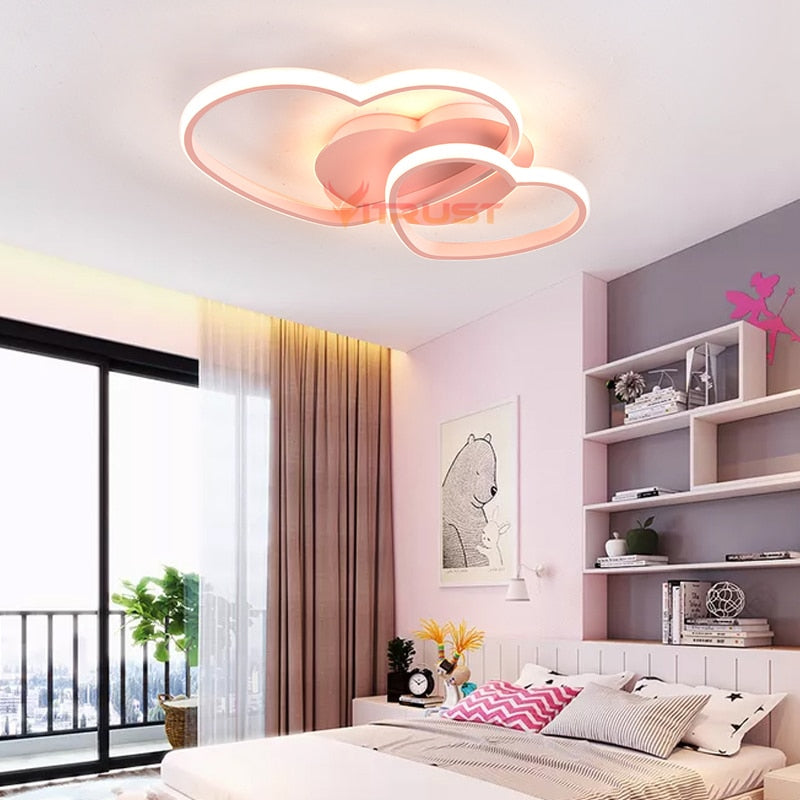 Remote Modern LED Ceiling Light Lamps Warm Wedding Girls Room