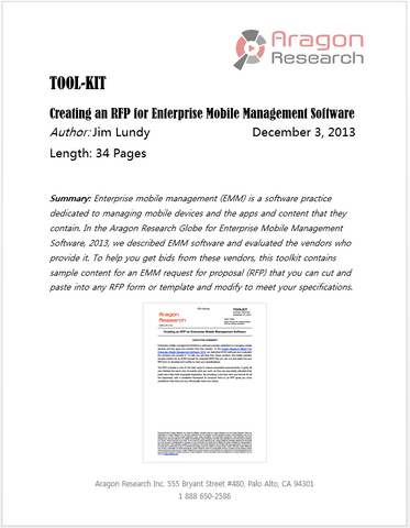 Toolkit- Creating an RFP for Enterprise Mobile Management Software