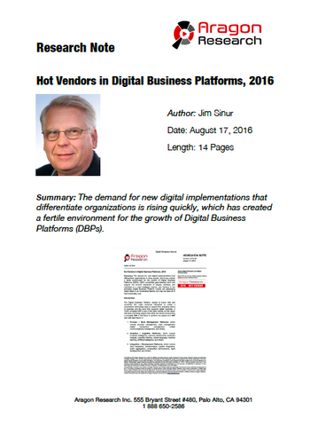 2016-28 Hot Vendors in Digital Business Platforms, 2016