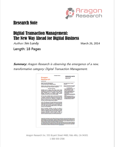 Digital Transaction Management: The New Way Ahead for Digital Business