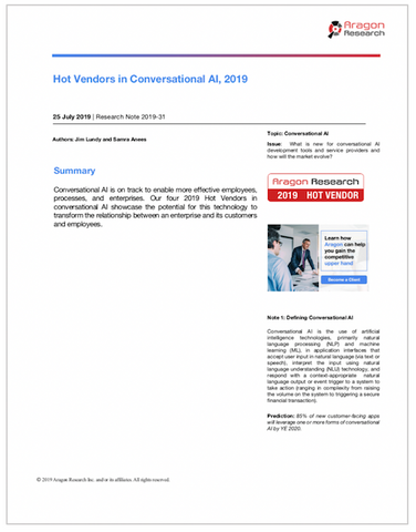 2019-31 Hot Vendors in Conversational AI, 2019