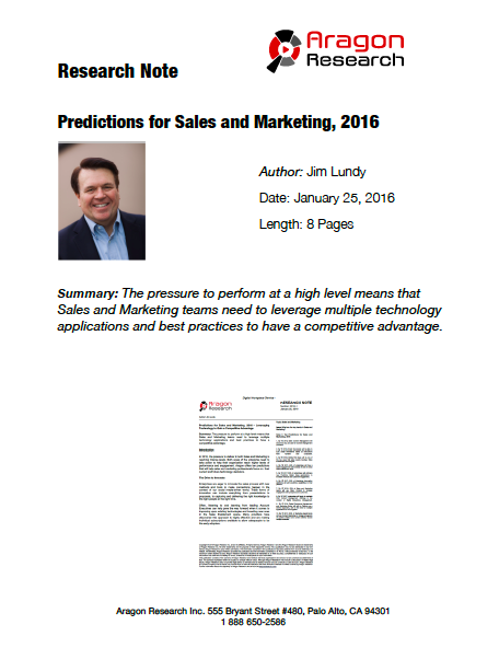 2016-1 Predictions for Sales and Marketing, 2016