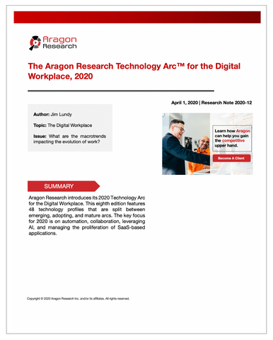 2020-12 The Aragon Research Technology Arc™ for the Digital Workplace, 2020