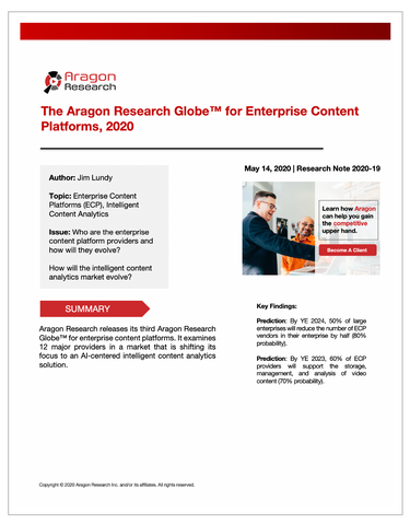 2020-19 The Aragon Research Globe™ for Enterprise Content Platforms, 2020