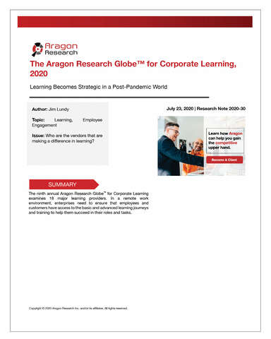 2020-30 The Aragon Research Globe for Corporate Learning, 2020