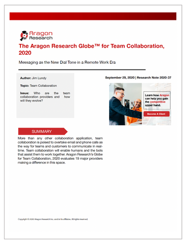 2020-37 The Aragon Research Globe™ for Team Collaboration, 2020