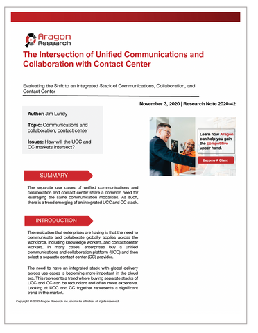 2020-42 The Intersection of Unified Communications and Collaboration with Contact Center