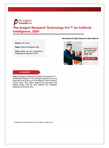 2020-44 The Aragon Research Technology Arc™ for Artificial Intelligence, 2020