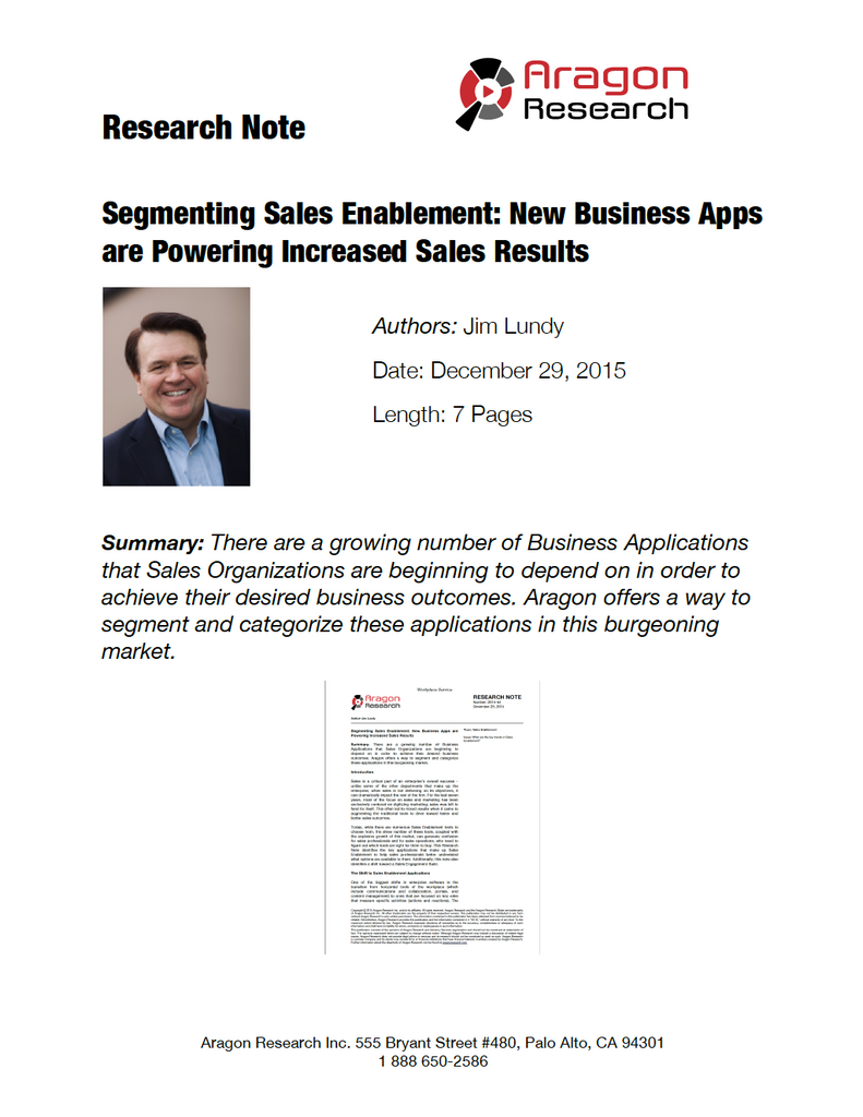 Segmenting Sales Enablement: New Business Apps are Powering Increased Sales Results