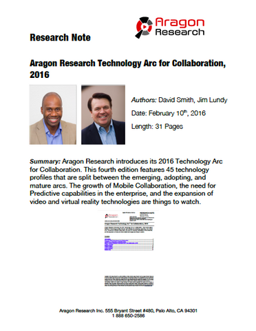 2016-3 Aragon Research Technology Arc™ for Collaboration, 2016