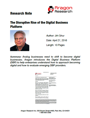 2016-10 The Disruptive Rise of the Digital Business Platform