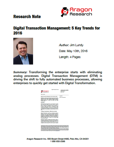 2016-14 Digital Transaction Management: 5 Key Trends for 2016