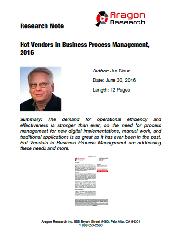 2016-22 Hot Vendors in Business Process Management (BPM), 2016