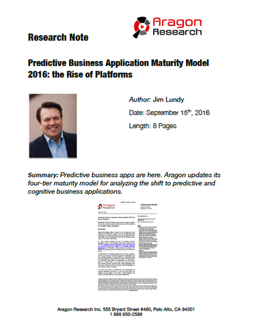 2016-34 Predictive Business Application Maturity Model 2016: the Rise of Platforms