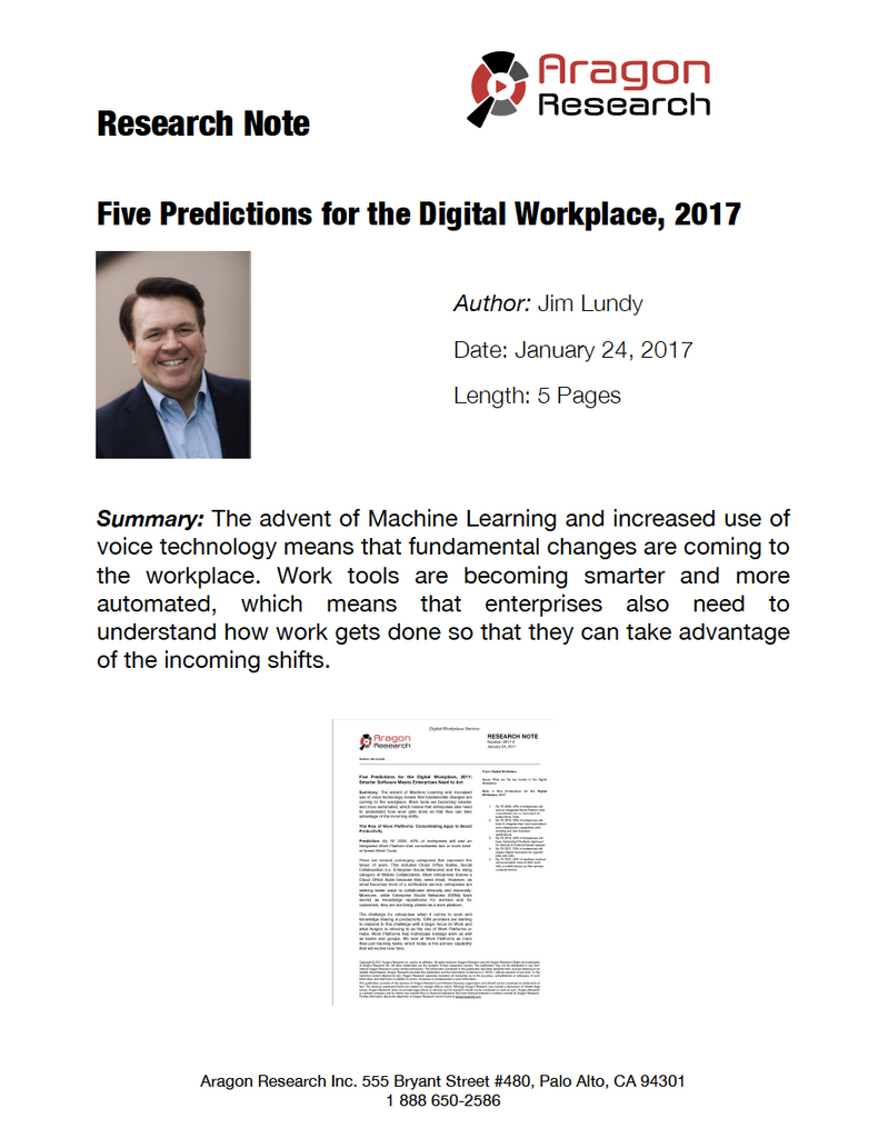 Five Predictions for the Digital Workplace, 2017