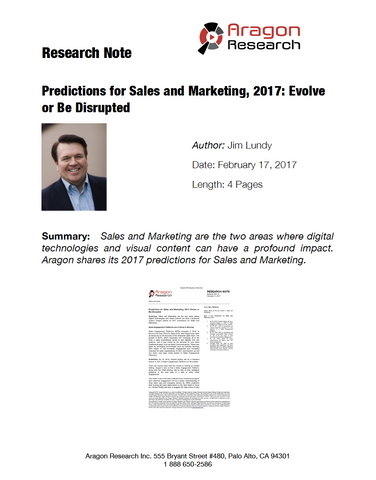 2017-6 Predictions for Sales and Marketing, 2017: Evolve or Be Disrupted