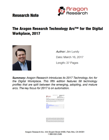The Aragon Research Technology Arc™ for the Digital Workplace, 2017