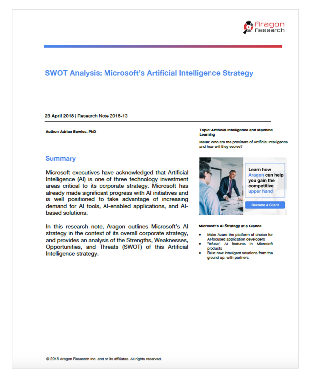 SWOT Analysis: Microsoft's Artificial Intelligence Strategy