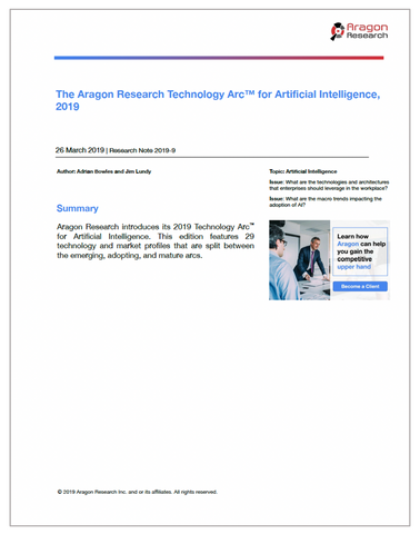 2019-9 The Aragon Research Technology Arc for Artificial Intelligence, 2019