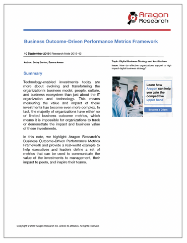 2019-42 Business Outcome-Driven Performance Metrics Framework