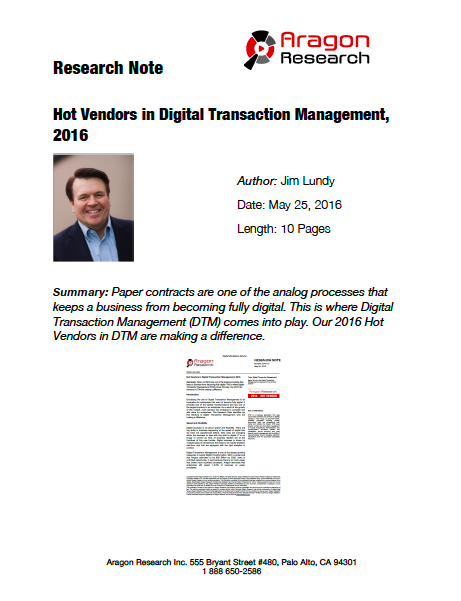 2016-15 Hot Vendors in Digital Transaction Management, 2016