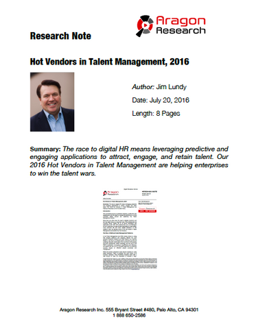 2016-23 Hot Vendors in Talent Management, 2016