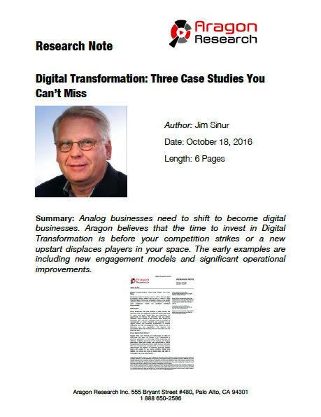 2016-39 Digital Transformation: Three Case Studies You Can't Miss