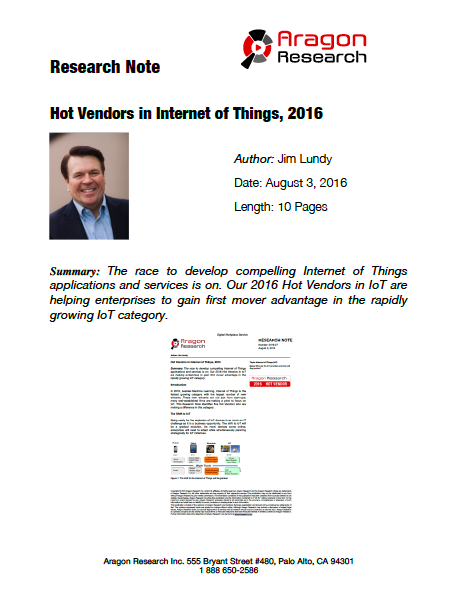 2016-27 Hot Vendors in the Internet of Things, 2016