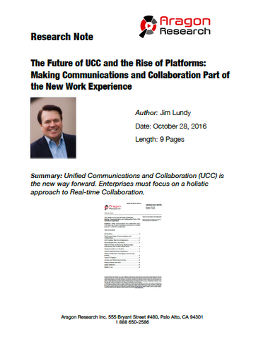 2016-40 The Future of UCC and the Rise of Platforms: Making Communications and Collaboration Part of the New Work Experience