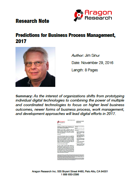 2016-42 Predictions for Business Process Management, 2017