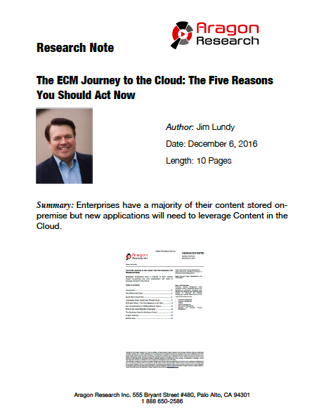 The ECM Journey to the Cloud: The Five Reasons You Should Act Now