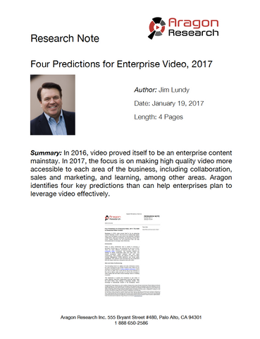 Four Predictions for Enterprise Video, 2017