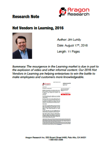 2016-30 Hot Vendors in Learning, 2016