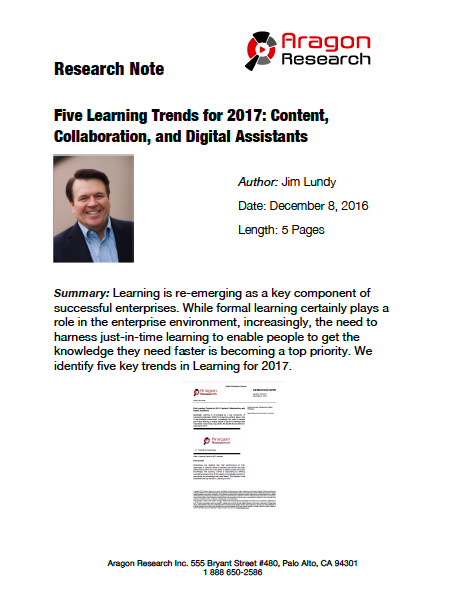 2016-47 Five Trends in Learning for 2017: Content, Collaboration, and Digital Assistants
