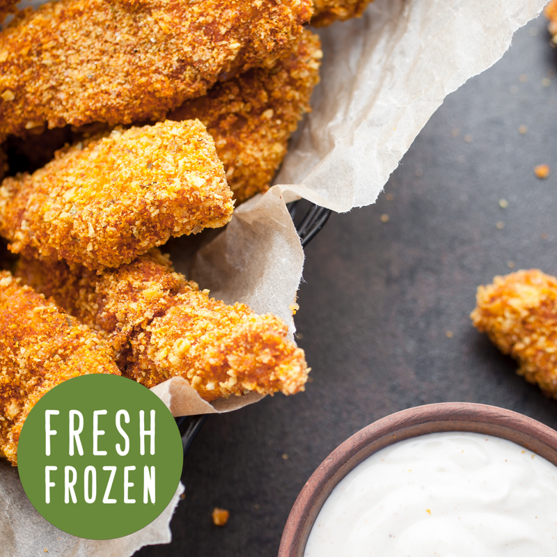 Kids Chicken Fingers with a Ranch Dip (HIDDEN Ingredients Ranch: Organic lakefield Cucumber, Peppers & Celery)
