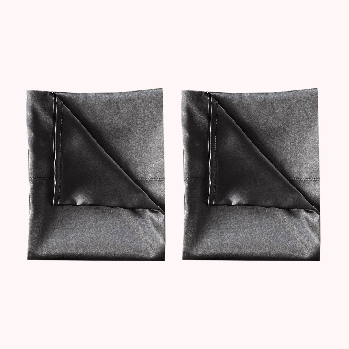 RISE Essential Satin Pillowcase - Charcoal Grey (2 Pack)