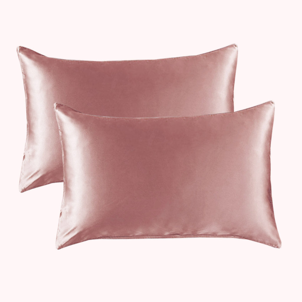 RISE Essential Satin Pillowcase - Soft Rose (2 Pack)