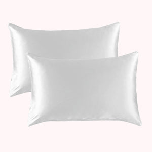 RISE Essential Satin Pillowcase - Pearl White (2 Pack)