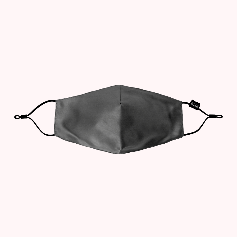 RISE Luxe Silk Face Covering - Charcoal Grey