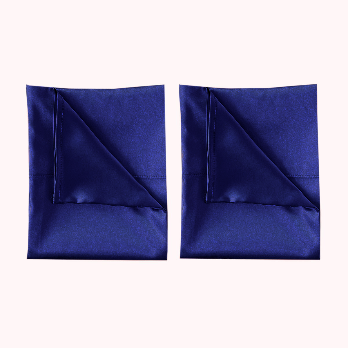 RISE Essential Satin Pillowcase - Navy Blue (2 Pack)