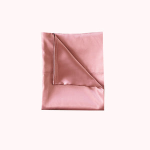 RISE Essential Satin Pillowcase - Soft Rose