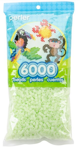 Perler - 6,000 Count - Glow in the Dark - Green