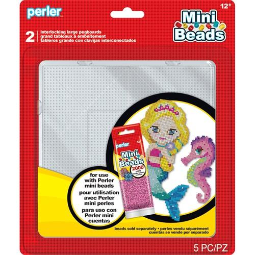 Perler Accessories - Large Mini (2.5mm) Clear Square Pegboards (2 Count)
