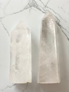 Clear Quartz Showcase Tower- 1 & 2
