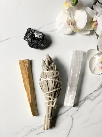 Smudging Bundle with Black Tourmaline