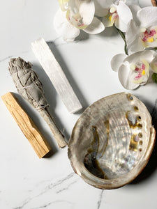 Smudging Bundle with Abalone shell