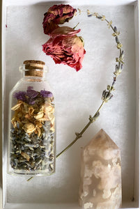 Flower Agate and Dried Herbs bundle